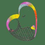 NUEVO.Logotipo Jugando con la Música Niños gris