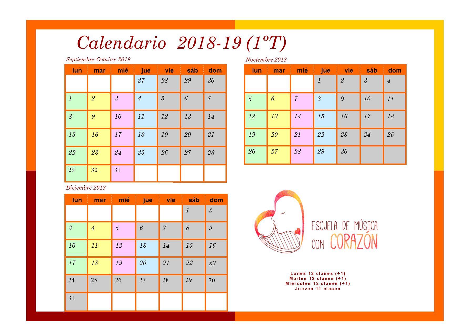 Calendario padres 1T 1