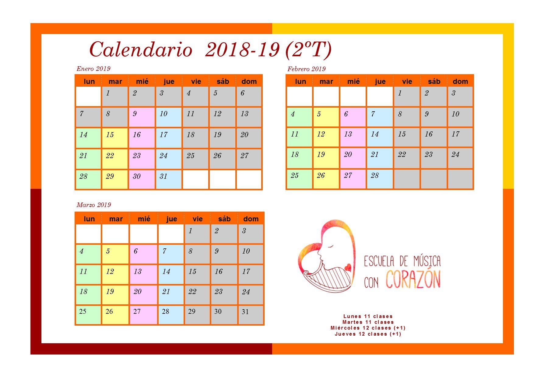 Calendario padres 2T 1