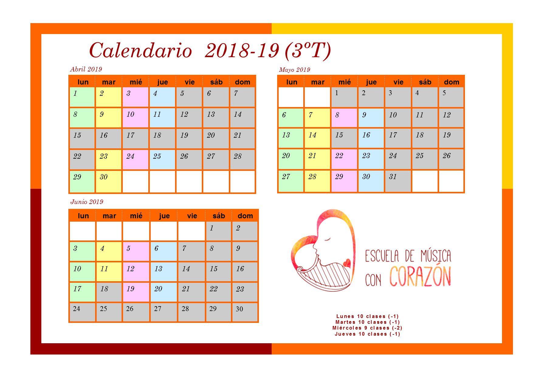 Calendario padres 3T 1