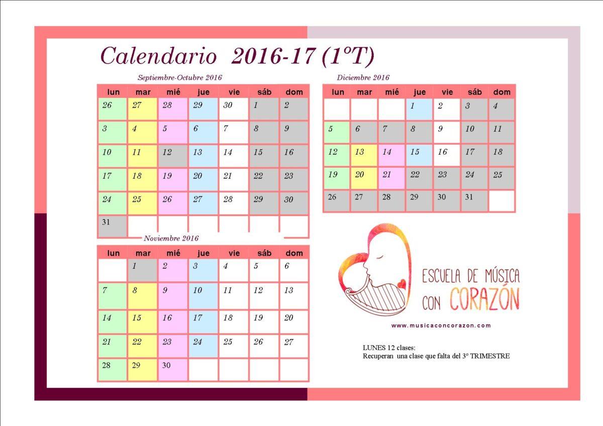 Calendario padres 1T