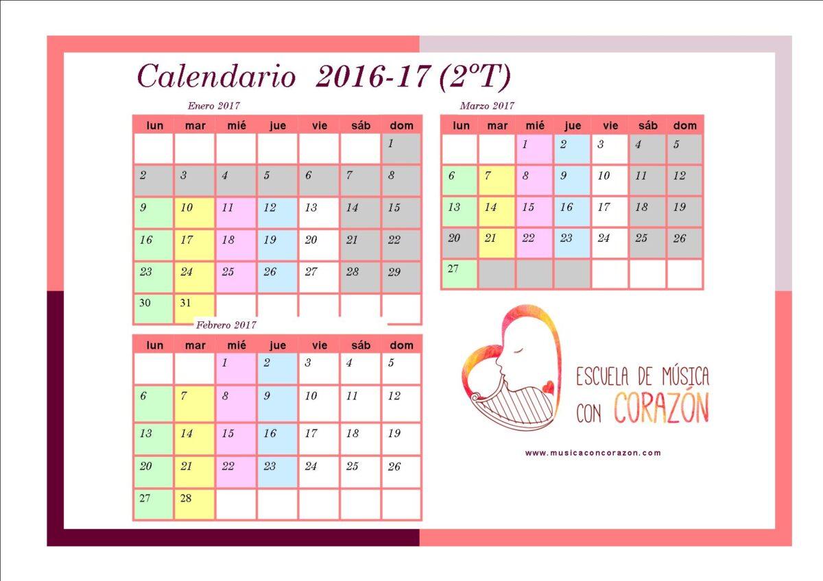 Calendario padres 2T