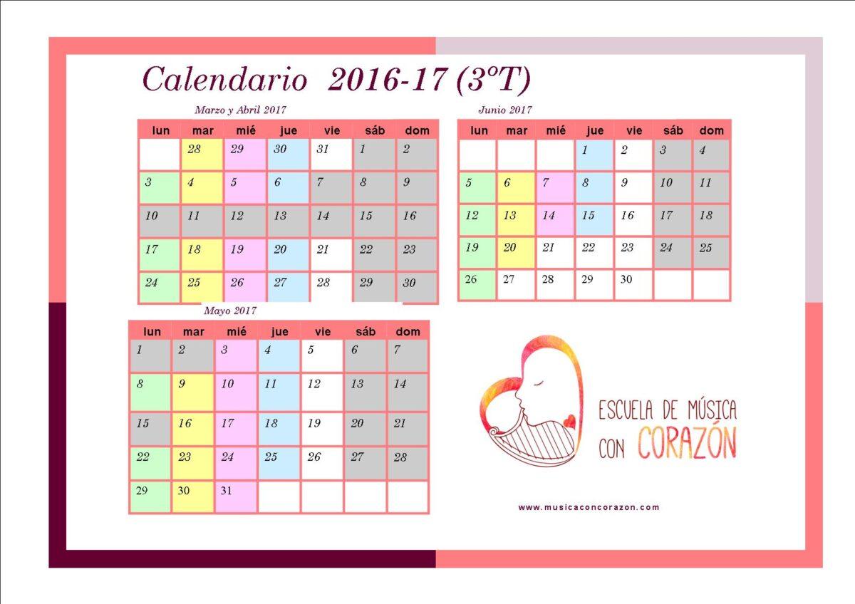 Calendario padres 3T
